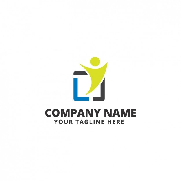 Human silhouette logo template