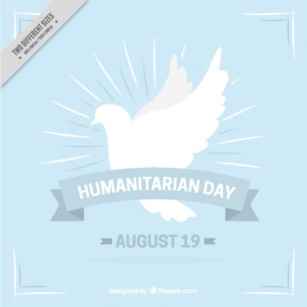 Humanitarian background with peace symbol Free Vector