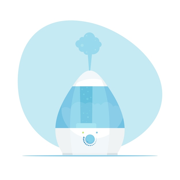 Humidifier air. modern home humidifier. purifier microclimate. illustration in flat style. Premium Vector