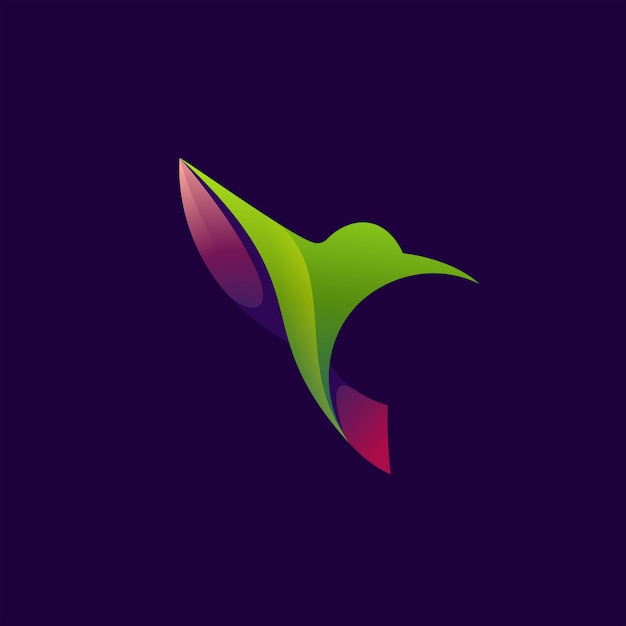 Humming bird abstract colorful Premium Vector