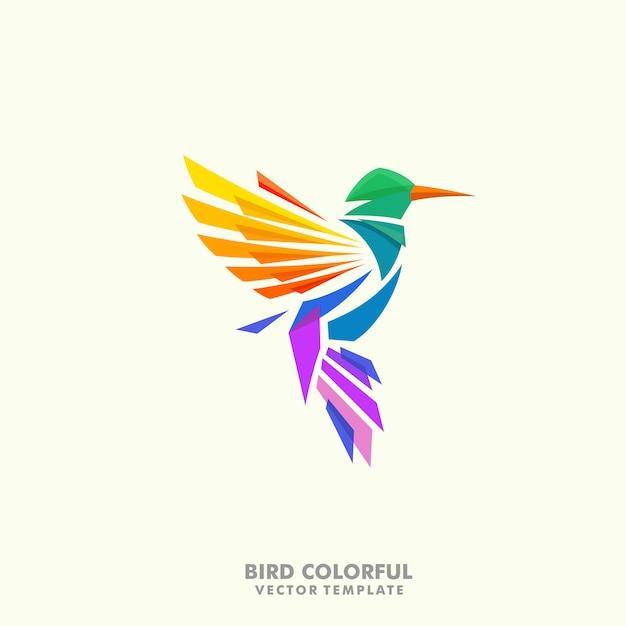 Humming bird illustration concept vector design template Premium Vector