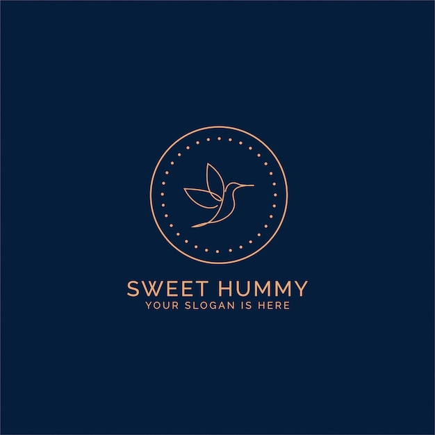 Humming bird logo Premium Vector
