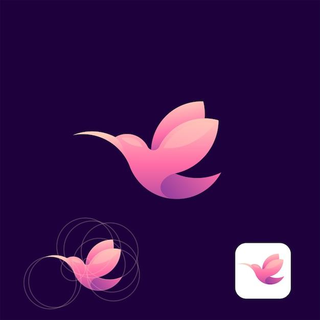 Humming bird logo Premium Vector