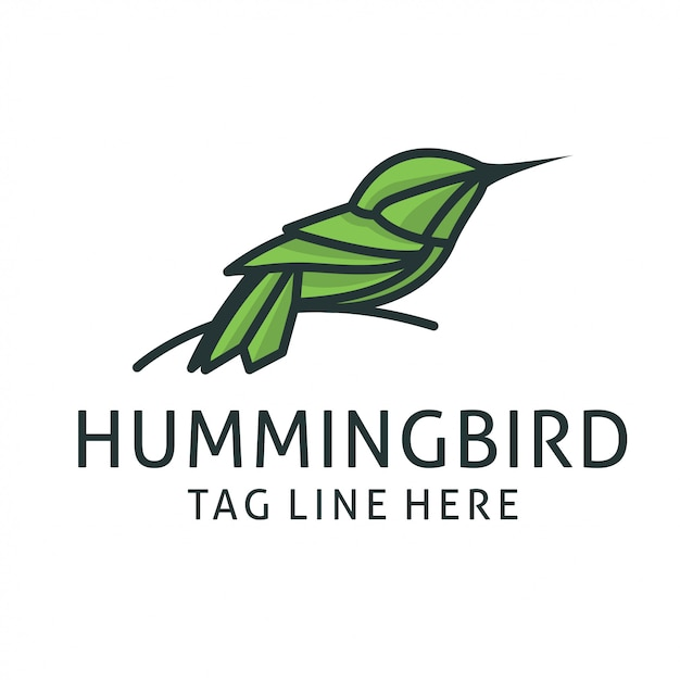 Hummingbird logo design vector template Premium Vector