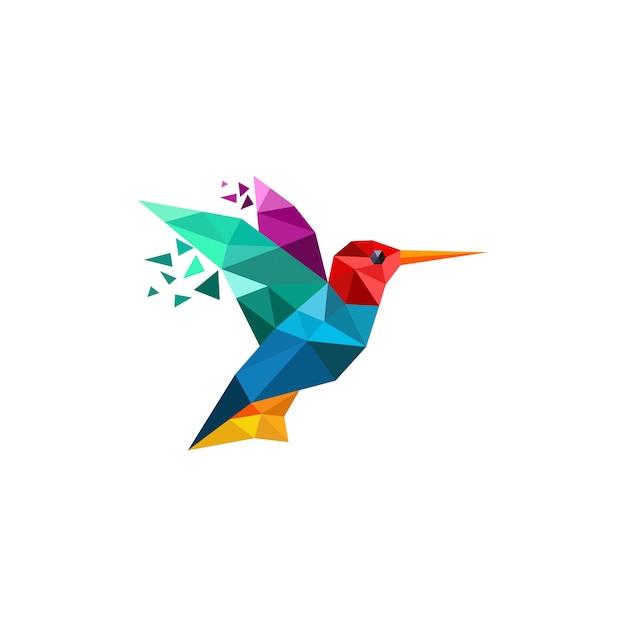 Hummingbird logo Premium Vector