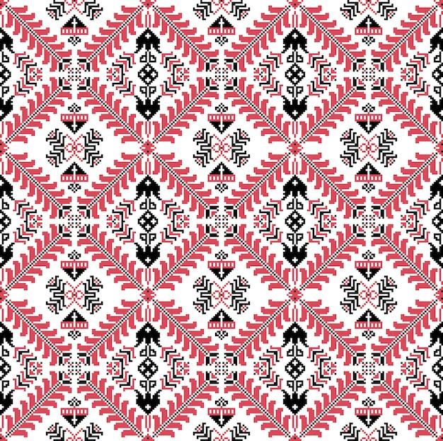 Hungarian pixel pattern Premium Vector