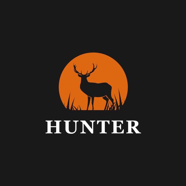 Hunter deer logo inspiration Premium Vector
