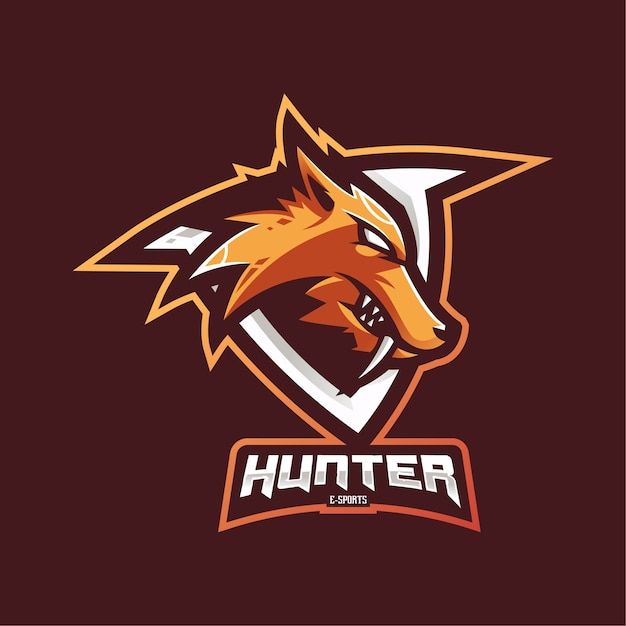 Логотип талисмана охотника Premium векторы