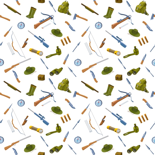 Hunting background seamless pattern Premium Vector