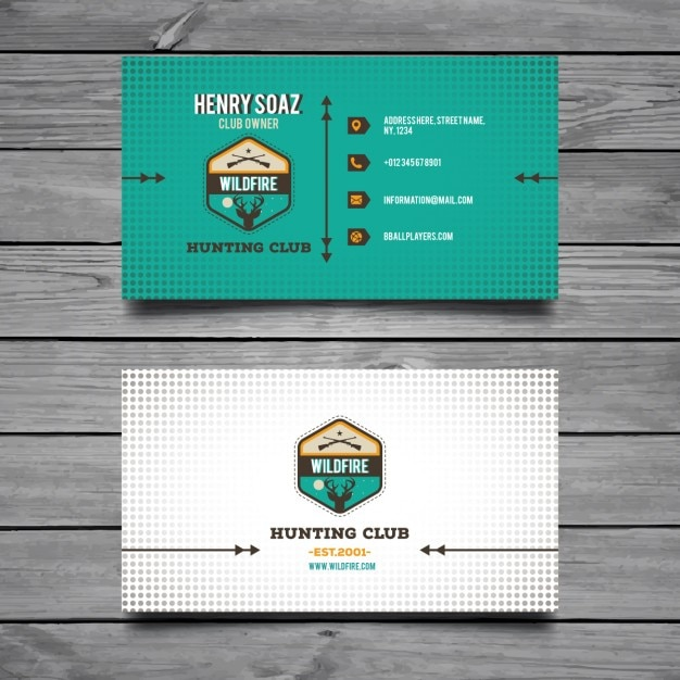 Hunting business card vector free download hunting business card free vector colourmoves