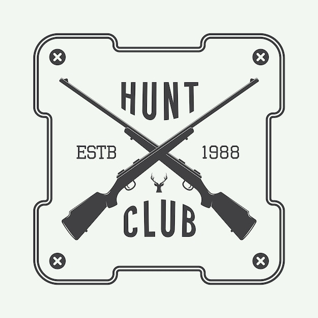 Hunting label, logo Premium Vector
