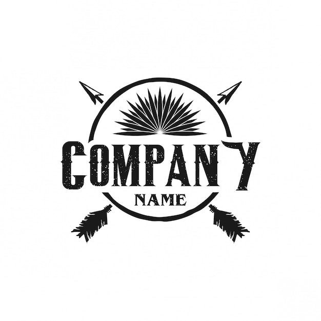 Hunting logo vintage Premium Vector
