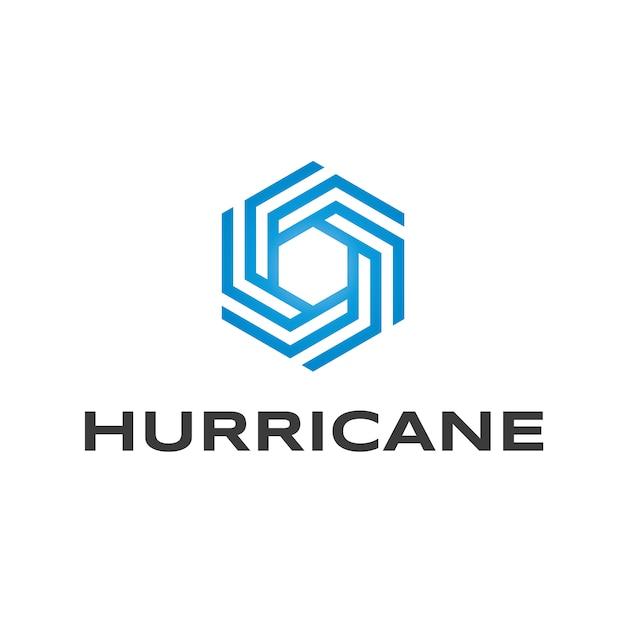 Hurricane logo design Premium Vector