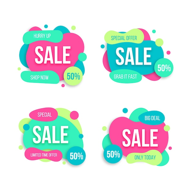 Hurry up special offer banner collection Free Vector