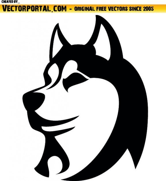 Husky Dog Head Vector Free Download