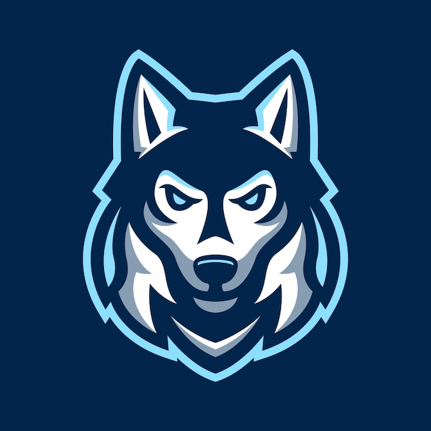 Husky dog sport logo | Premium Vector