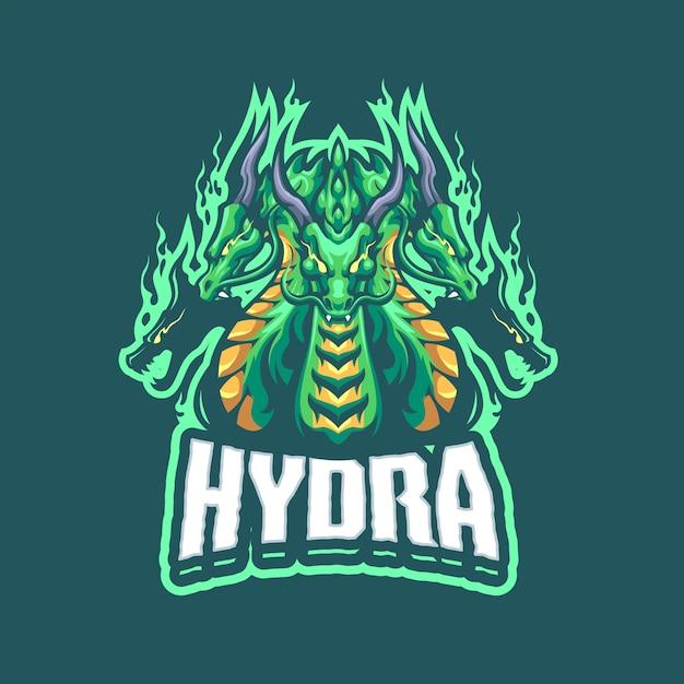Eスポーツおよびスポーツチームのhydraマスコットロゴ Premiumベクター