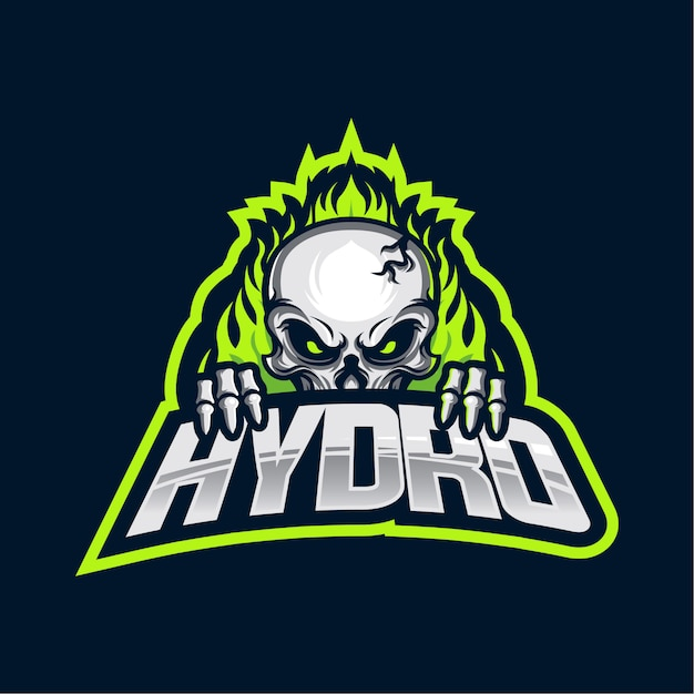 Hydro esports logo Premium векторы