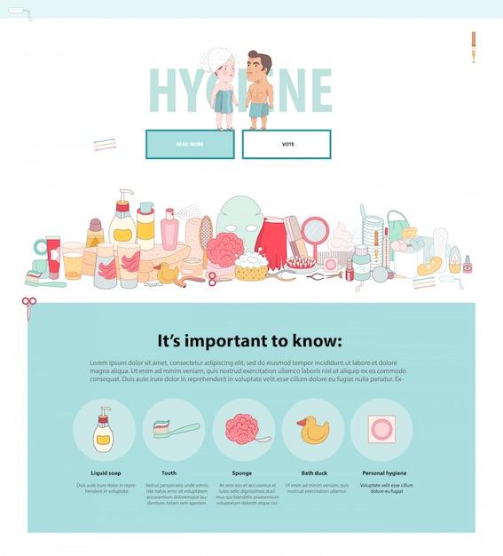 Hygiene web template Premium Vector