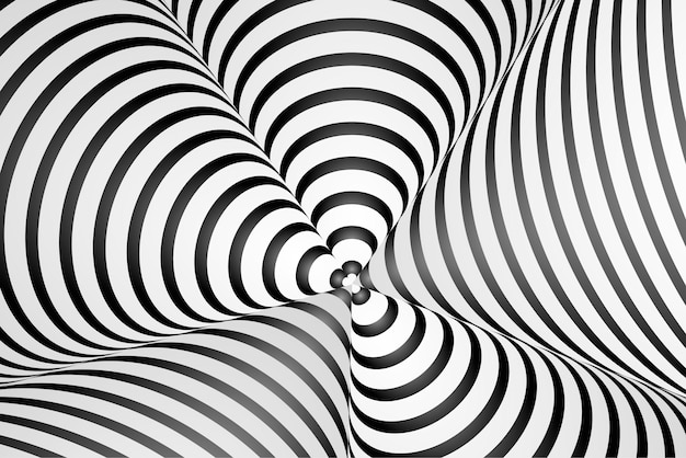 Hypnotic optical illusion background Free Vector