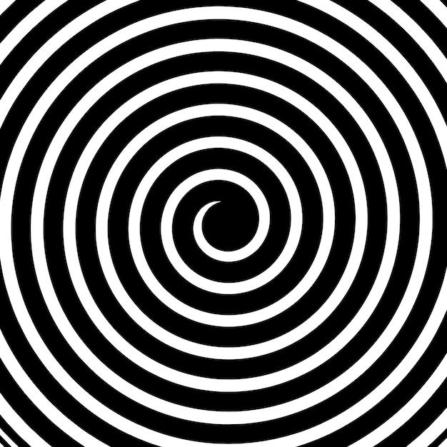 Hypnotic psychedelic spiral, twirl, vortex. Premium Vector