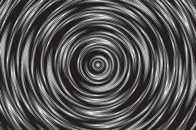 Hypnotic spiral vector abstract background Premium Vector