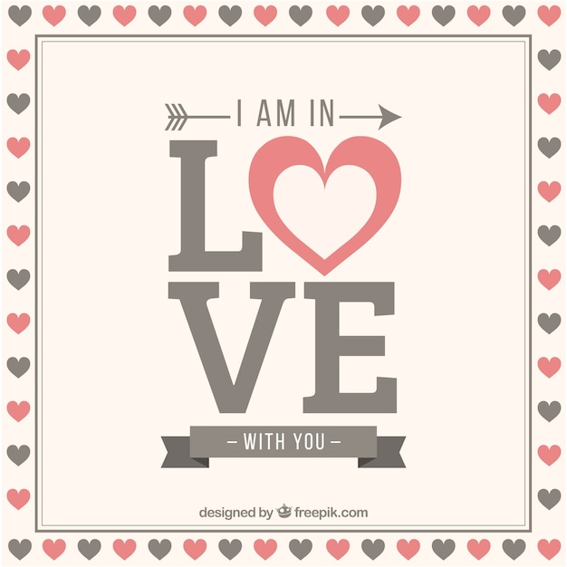 I Am In Love With You Background Vector Free Download
