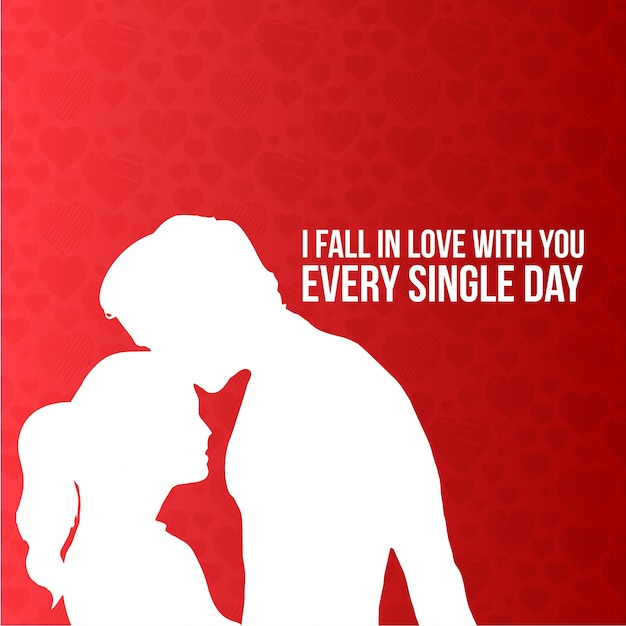 i fall in love with you every single day typographic card vector