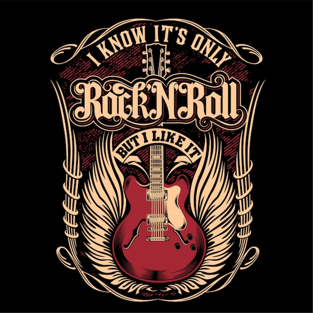 I know it's only rock'n'roll Premium Vector
