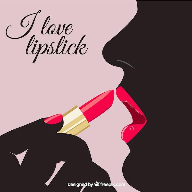 I love lipstick Free Vector