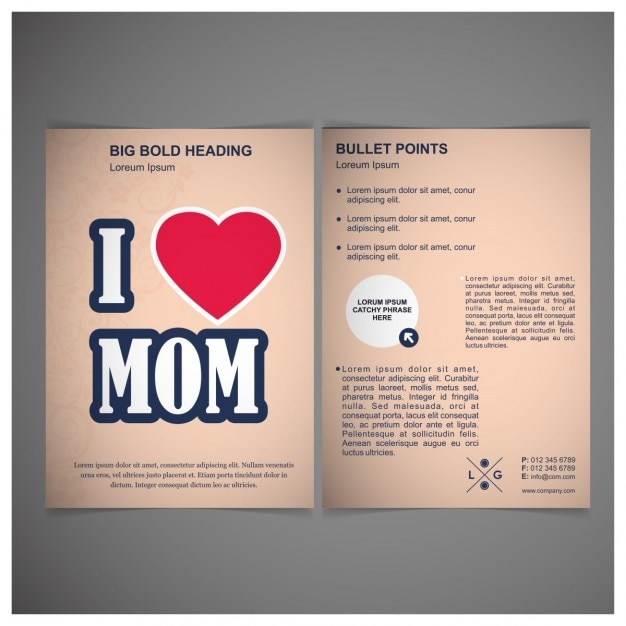 I love mom pink poster