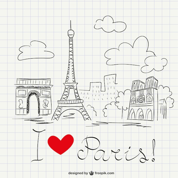 I love paris sketch vector free download for Sketch online free