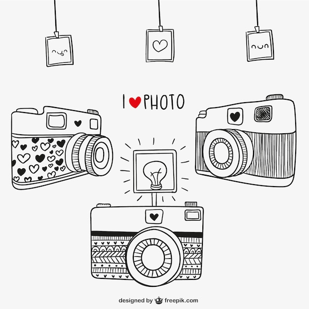 I love photography Free Vector