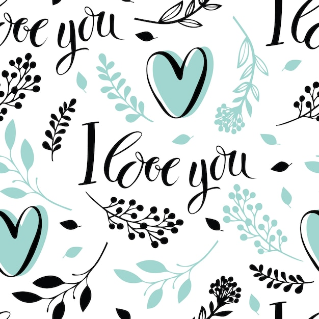 I love you background Free Vector