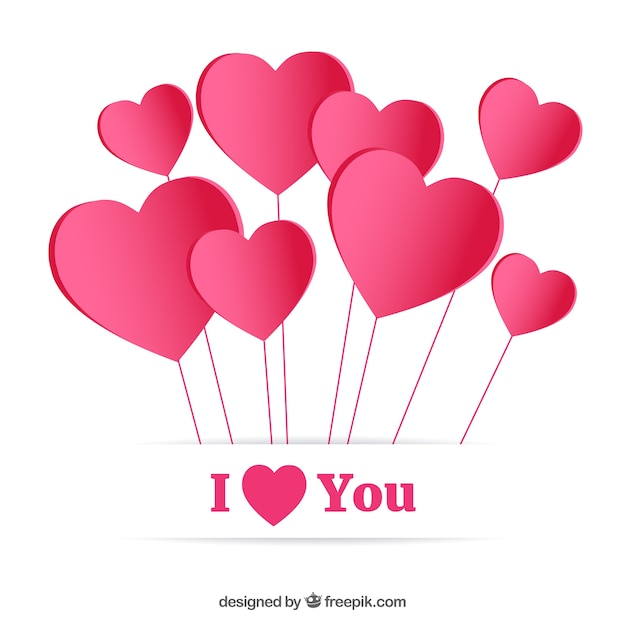 i love you card vector free download