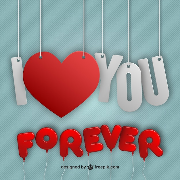 I Love You Forever Vector Free Download