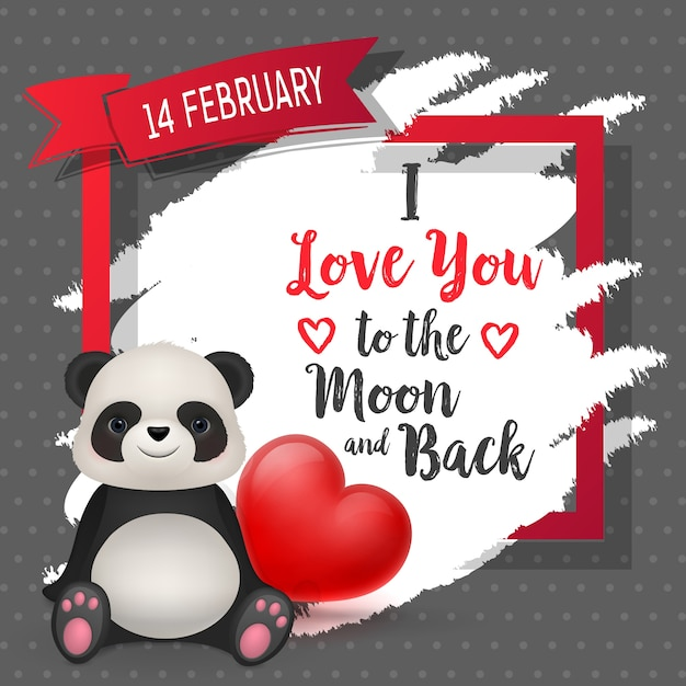 I love you to the moon and back poster Premium Vector
