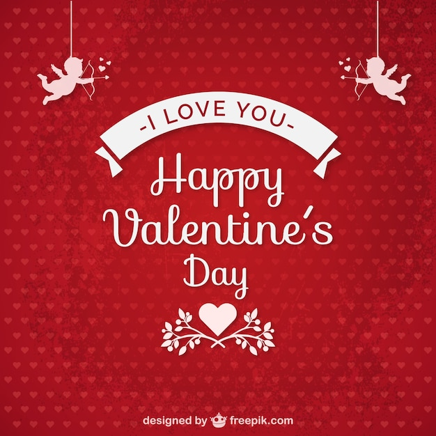 I love you Valentines card Vector – Download Valentine Card