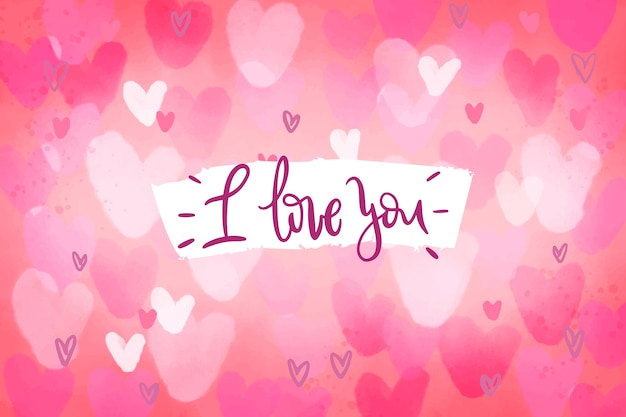 I love you valentine's day background Free Vector