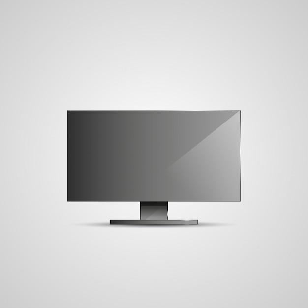 テレビフラットスクリーンicdの図。 Premiumベクター