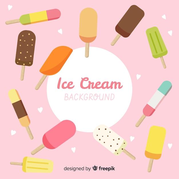 Ice cream background Free Vector