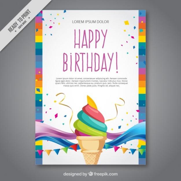 Ice cream birthday card vector premium download ice cream birthday card premium vector bookmarktalkfo Image collections