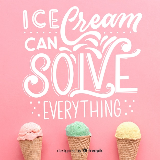 Ice cream can solve everything Free Vector