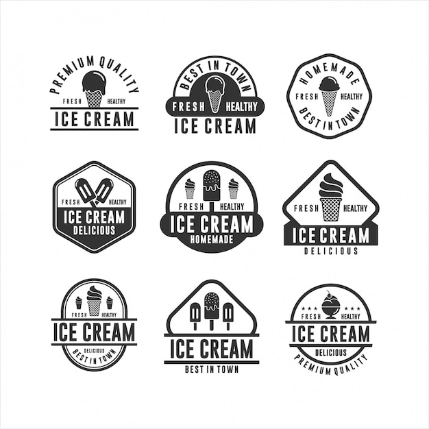 Ice cream homemade fresh and healthy Premium Vector