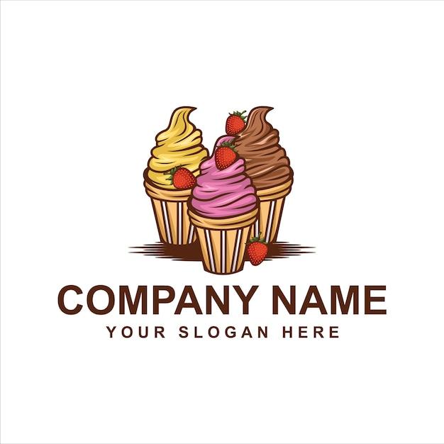 Ice cream logo Premium Vector