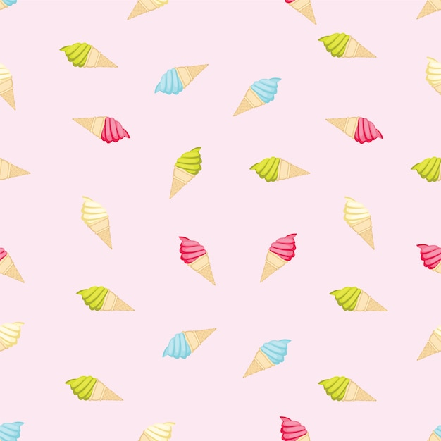 Free Backgrounds Ice Cream Cone Hd Desktop Wallpaper: Ice Cream Pattern Background Vector