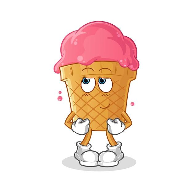 さん イラスト アイス クリーム 屋
