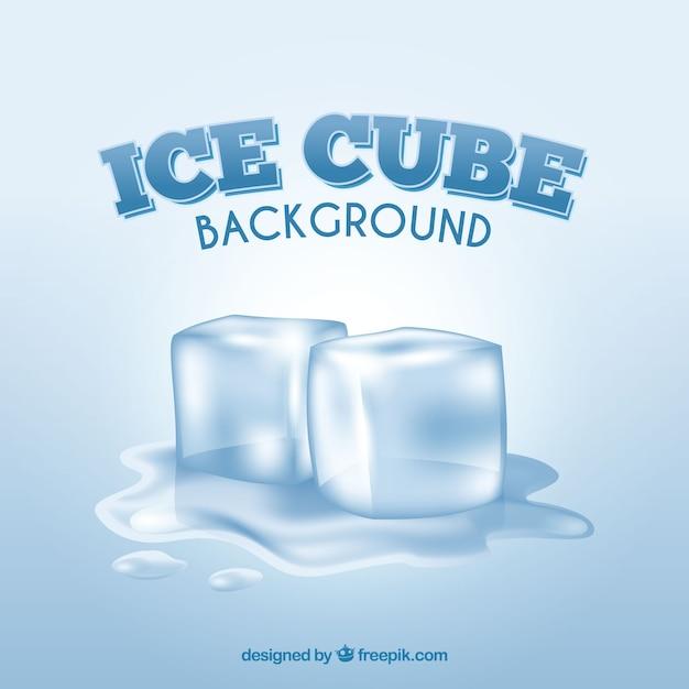 Sfondo di cubetti di ghiaccio con stile realistico Vettore gratuito