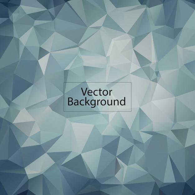 Ледяной многоугольный мозаичный фон Premium векторы