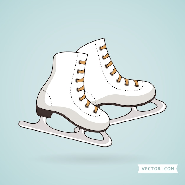 Ice skates. illustration. Premium Vector